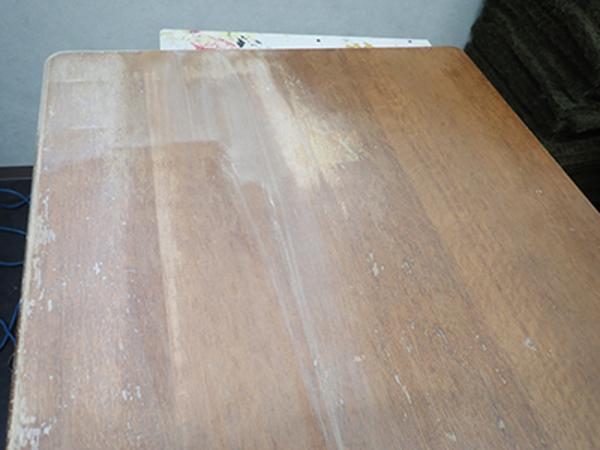 テーブル天板リニューアル